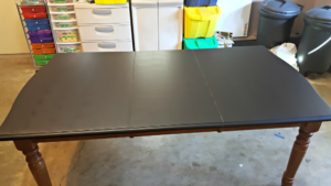 Chalk board table diy