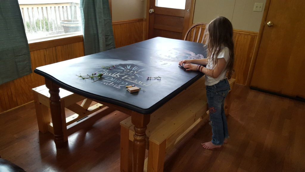 chalkboard table diy