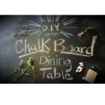 Dinner Table Makeover: Chalkboard paint & Custom Bench Seats