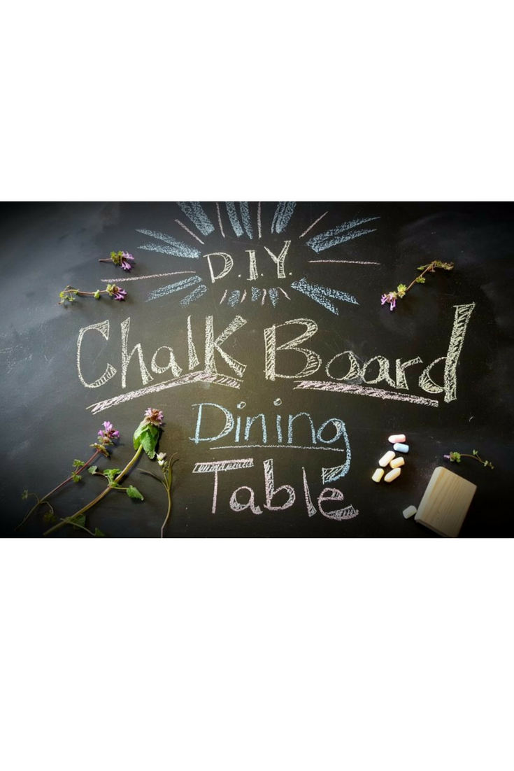 Dinner Table Makeover: Chalkboard paint & Custom Bench Seats