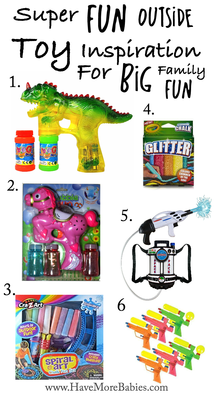Super Fun Outside Toy Inspiration For Big Family Fun!