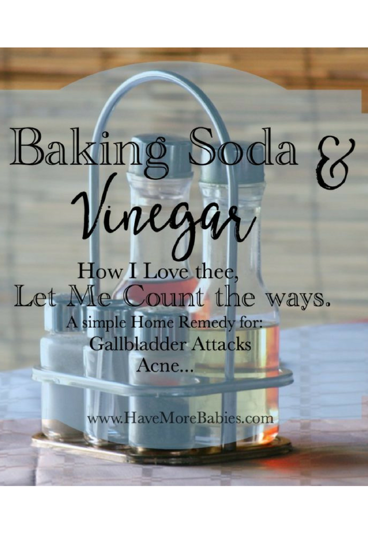 Baking soda and Vinegar…how I love thee, let me count the ways.