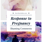 Response to Pregnancy Shaming Comments